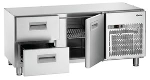 Refrigerated counter as substructure 140