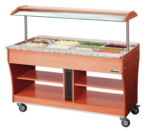 Chariot buffet chaud, 4x1/1GN, P150