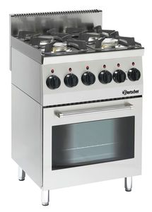 Gas stove 600, W600, 4BR, elO
