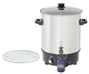 Mulled wine pot, bl.w. canner30L,SS