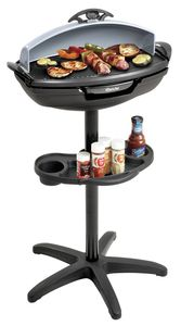 Barbecue grill, stand and table