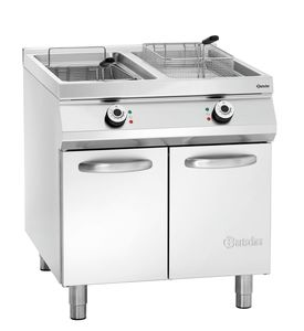 El. standing deep fat fryer, 2 basins