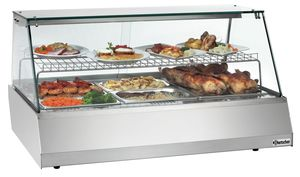 Hot display unit 3/1GN, straight glass