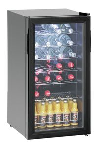 Bottle Cooler 88L,28bottles,glass door