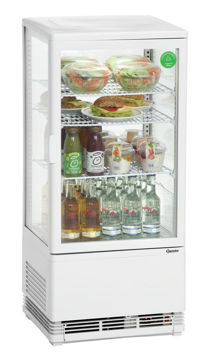 Mini-Kühlvitrine 78L, weiß | Minikühlvitrinen | Kühltechnik | null ...