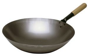 Wok pan steel, 360mm