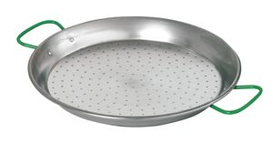 Paella pan 34cm, with grips
