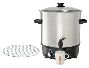 Mulled wine pot, bl.w. canner25L,SS